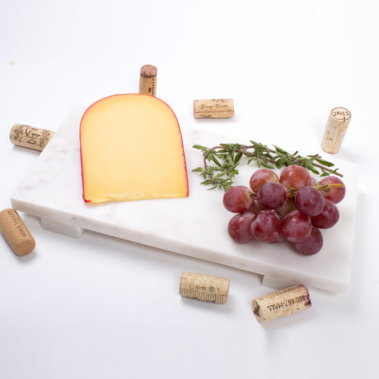8 Oak Lane White Marble Cheese Boards